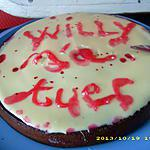"gâteau ""willy m'a tuer"" d'halloween"