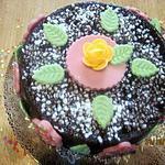 recette Gâteau sans cuisson. spéculoos. nappage chocolat.
