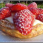 recette Tartelettes aux fraises façon Saint Honoré