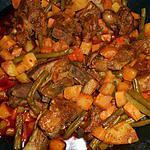 recette Sauté d agneau sauce épicée et légumes d automne
