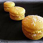 recette Macarons ganache à la noix de coco