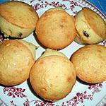 recette Petits moelleux rhum,raisins