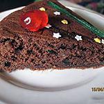 Gâteau au chocolat et fruits confits.