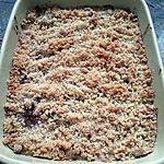 recette Crumble poires et pépites de chocolat