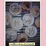 recette muffins divers ( amande et citron) avec ma recette sans beurre,sans huile,sans yaourt!