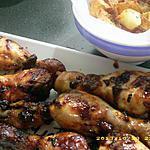 recette pilons de poulet caramélisés , pommes de terre sautées