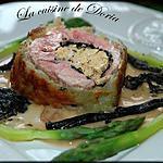 recette Roulé d'agneau au foie gras