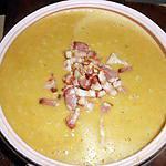 recette Soupe de pois cassé aux lardons et croutons