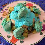 recette Stroumph'poulet ou dés de poulet au yaourt bleu