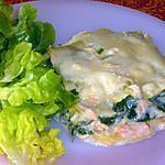 recette Lasagnes saumon / épinards / parmesan
