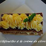 recette Millefeuille à la crème de citron