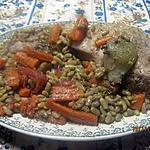 recette Cotis de porc aux flageolets.