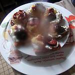 gateau  avec   fond de tarte    aux    biscuits de reims de nathalie la serviette sur la table
