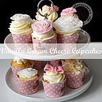 recette VANILLA CREAM CHEESE CUPCAKES