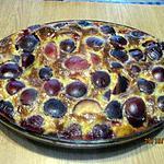 recette Clafoutis aux prunes rouges.