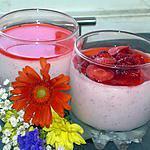 recette verrine aux fraises