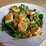 recette Salade de quenelles poêlées et lentilles corail