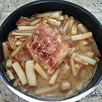 recette Rôti de porc (sauce moutarde et bière) et salsifis