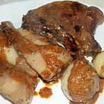 recette Panais glacés et côtes de porc moutarde