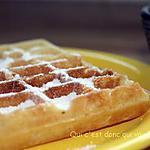 recette Gaufres et sucre glace maison sans gluten et sans lactose
