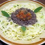 recette Tagliatelles au boeuf et légumes.