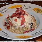 recette Risotto au deux champignons, petits pois et jambon cru