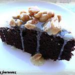 recette Gâteau-brownies au caramel & aux cacahuètes
