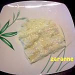 recette Cannelonis Poulet- fromage à la sauce céléris