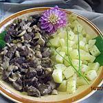 recette Boeuf aux champignons, sauce colombo.