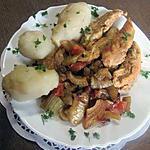 recette Aiguillettes de poulet au fenouil et topinanbours.