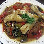 recette filet de poisson au brin de légumes ensoileillés.