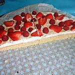 recette Gâteau aux fraises et framboises
