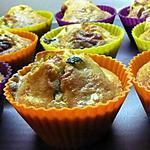 recette Mini cakes courgettes, roquefort et bacon