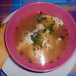 recette CON IL BRODO DEL CONIGLIO (bouillon du pot au feu de lapin)