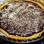 recette tarte chocolat / poires / noix de coco