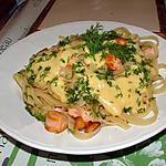 recette linguine al salmone e salsa al limone ( linguine au saumon et sauce au citron )