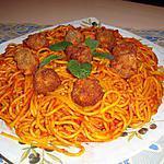 recette Spaghetti en sauce avec boulettes de sardine en conserve