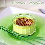 recette Crème brûlée de petits pois