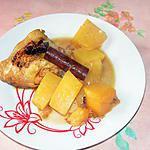 recette Tajine de cuisses de poulet au potimarron