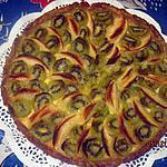recette tarte aux  pommes et kiwis.
