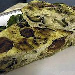 recette Gâteau léger de fromage blanc aux courgettes et aux tomates cerise