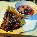 recette Crêpes de sarrasin avec sauce aux fruits