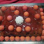 recette Gateau aux bonbons fraises , micro-ondes.