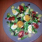 recette salade de chèvre chaud pané et lardons tièdes