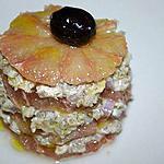recette Millefeuille de saumon fumé au pamplemousse