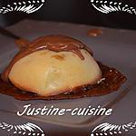 recette Dôme aux pommes sur sa tuile de carambar et sauce aux carambars