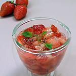 recette Fraises à la menthe et au citron caviar