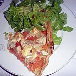 Tarte poulet , tomates et chevre