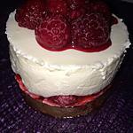 recette Cheesecake nougat-framboises
