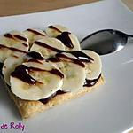 recette Tartelette banane chocolat rapide